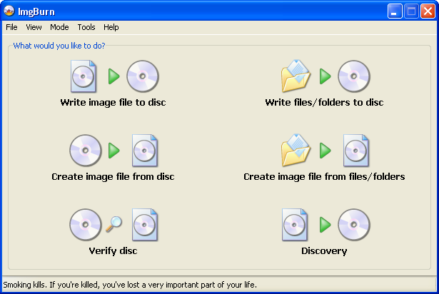 ImgBurn – Create And Burn Image Files For CD, DVD, HD DVD And Blu-ray