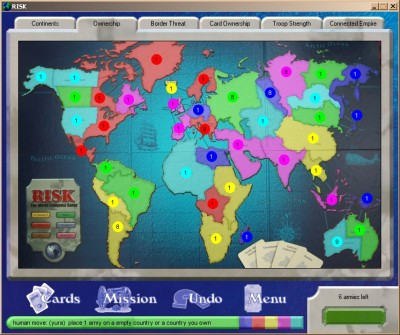 The classic boardgame Risk for your computer