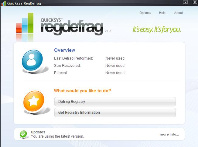 Quicksys Regdefrag – Free Utility To Defrag Registry