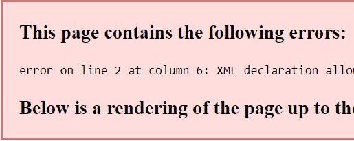 "Fix: WordPress Sitemap Error: ""XML declaration allowed only…"""