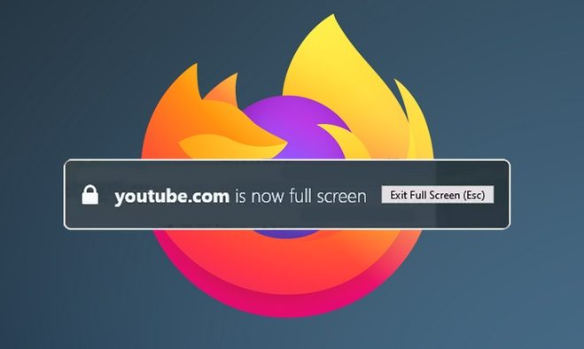 How to disable Firefox full screen warning notification